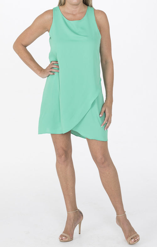 Green Double Layer Dress