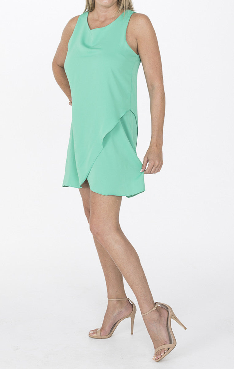 Green Double Layer Dress - Troovi Finds, Dresses, Everly, Troovi Finds