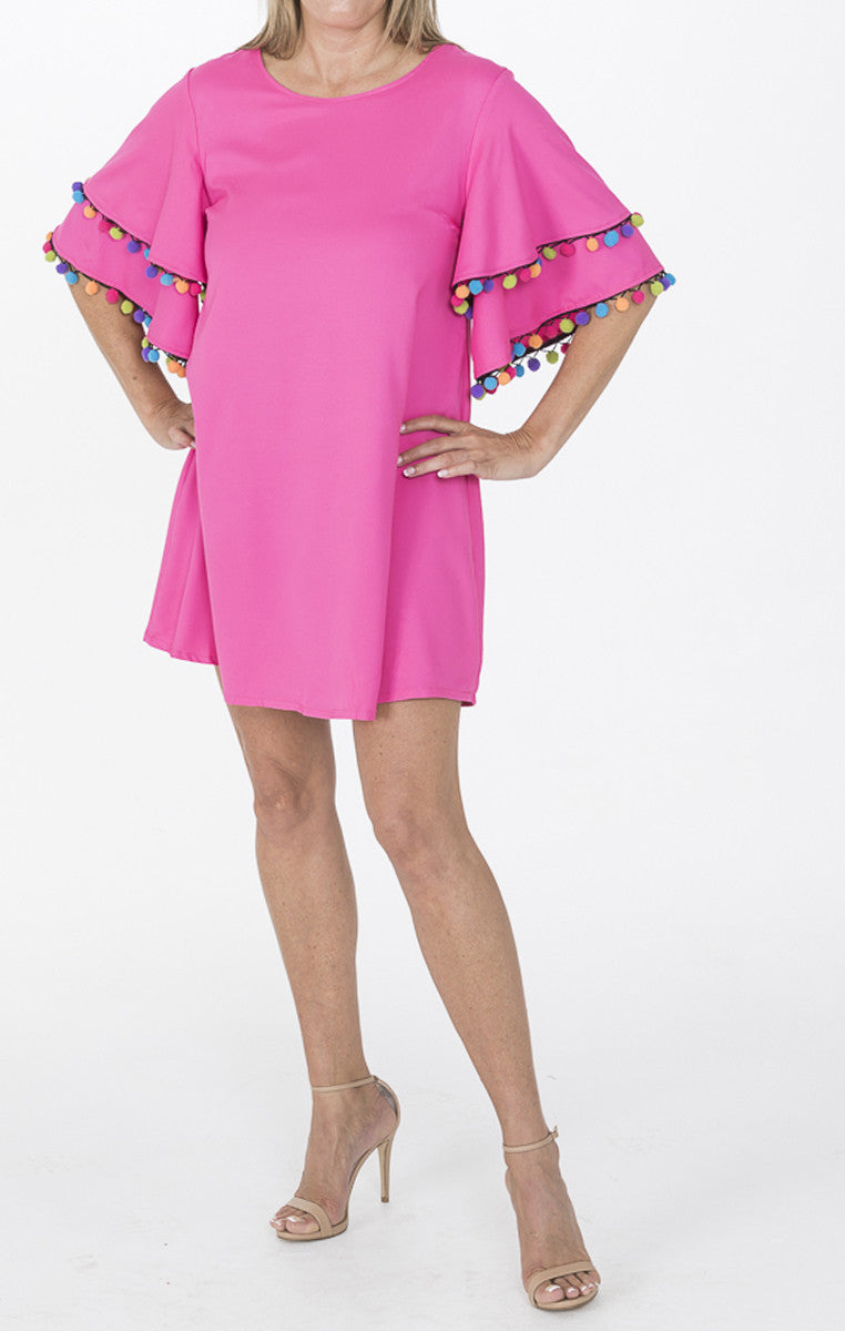 Hot Pink Tassel Short Dress - Troovi Finds, Dress, Very J, Troovi Finds
