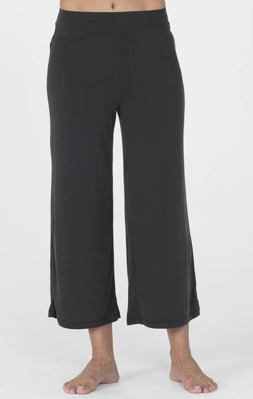Black Loungewear Midi Pants