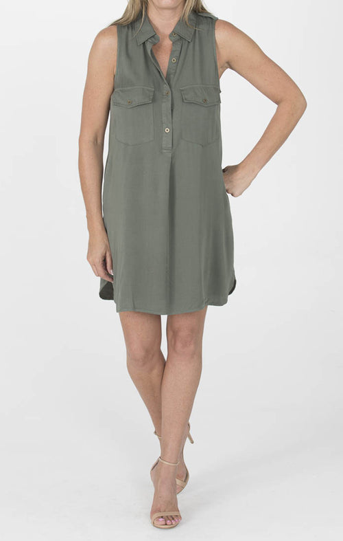 Safari Dress - Forest Green