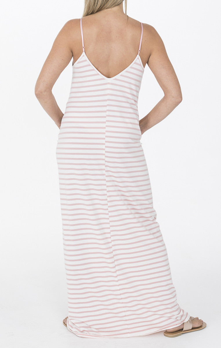 Pink and White Stripe Maxi - Troovi Finds, Dresses, La Vida, Troovi Finds