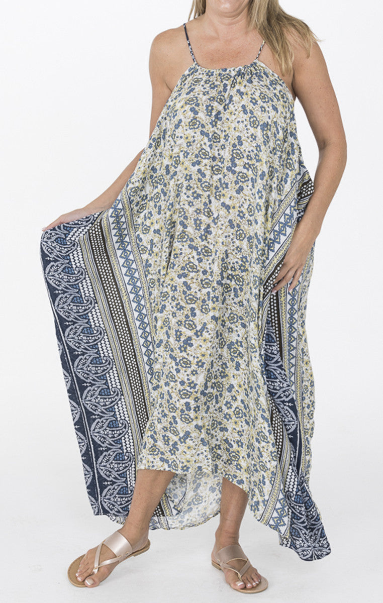 Side Border Print Halter Dress - Troovi Finds, Dresses, Annabelle, Troovi Finds