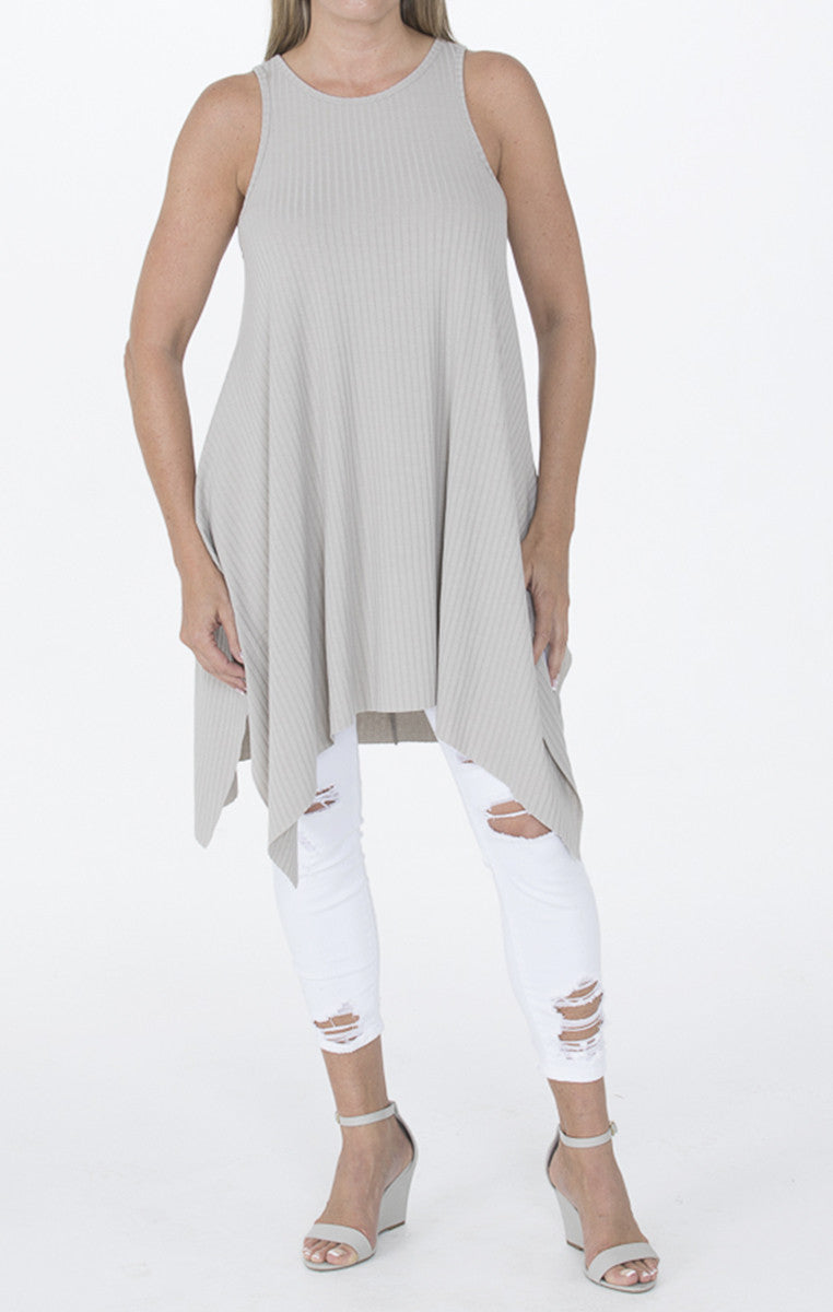 Sleeveless Stone Tunic - Troovi Finds, Tops, Double Zero, Troovi Finds