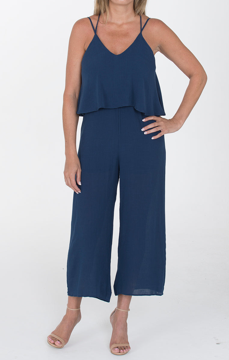 Criss Cross Jumpsuit - Navy - Troovi Finds, Dresses, Everly, Troovi Finds
