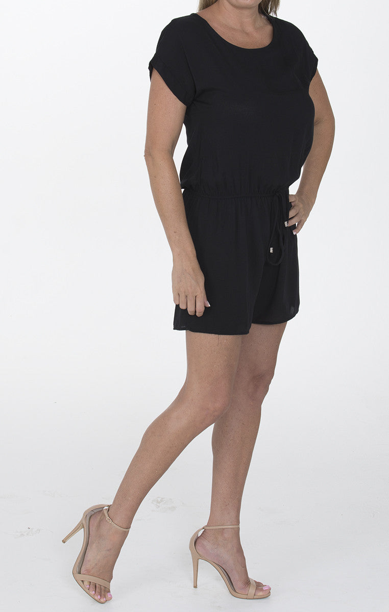 Keyhole Romper - Black - Troovi Finds, Dresses, 12PM by Mon Ami, Troovi Finds