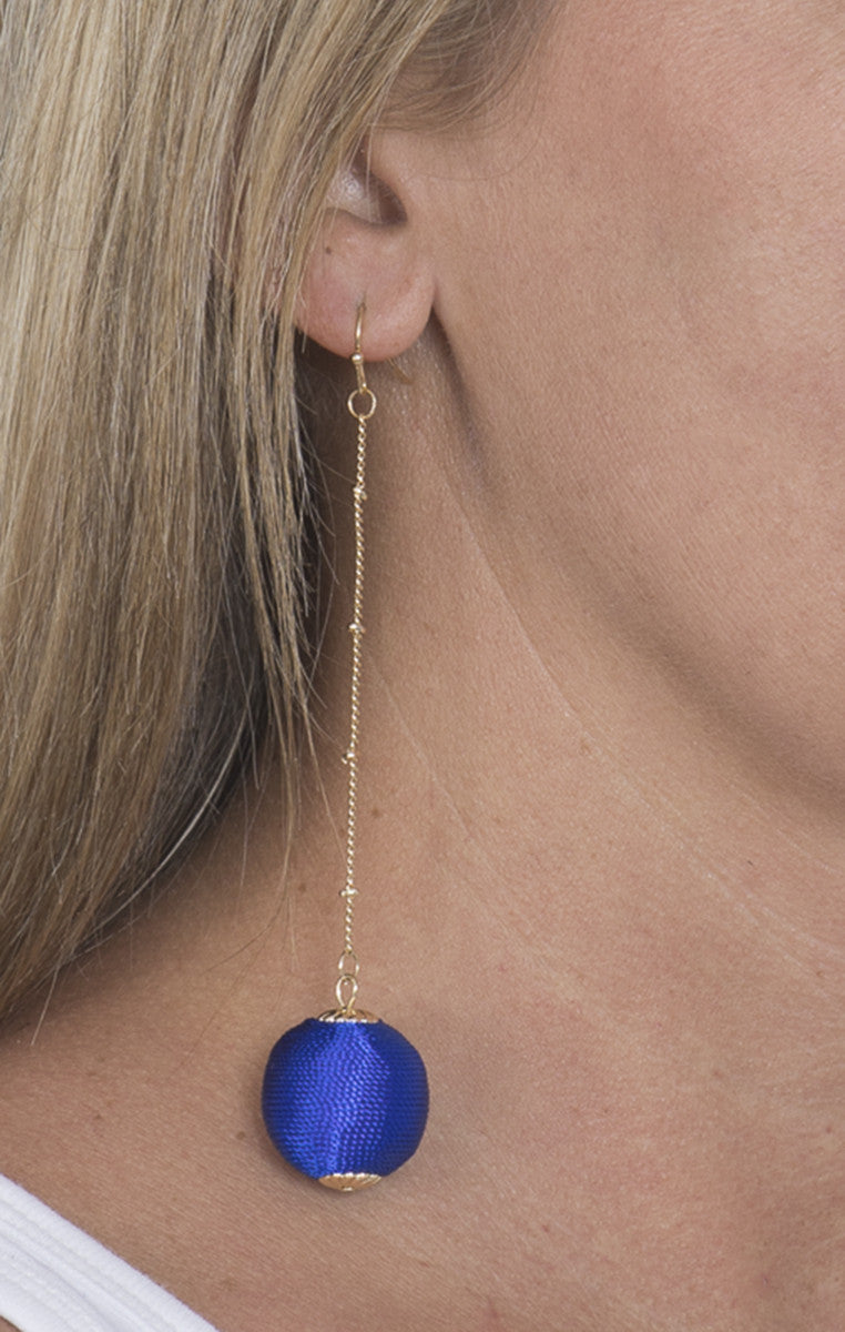 Bauble Earrings - Royal Blue - Troovi Finds, Accessories, Fame, Troovi Finds