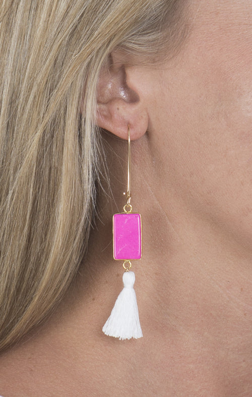Pink Connector Earrings