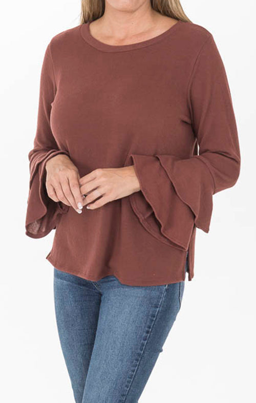 Long Tiered Sleeves - Marsala