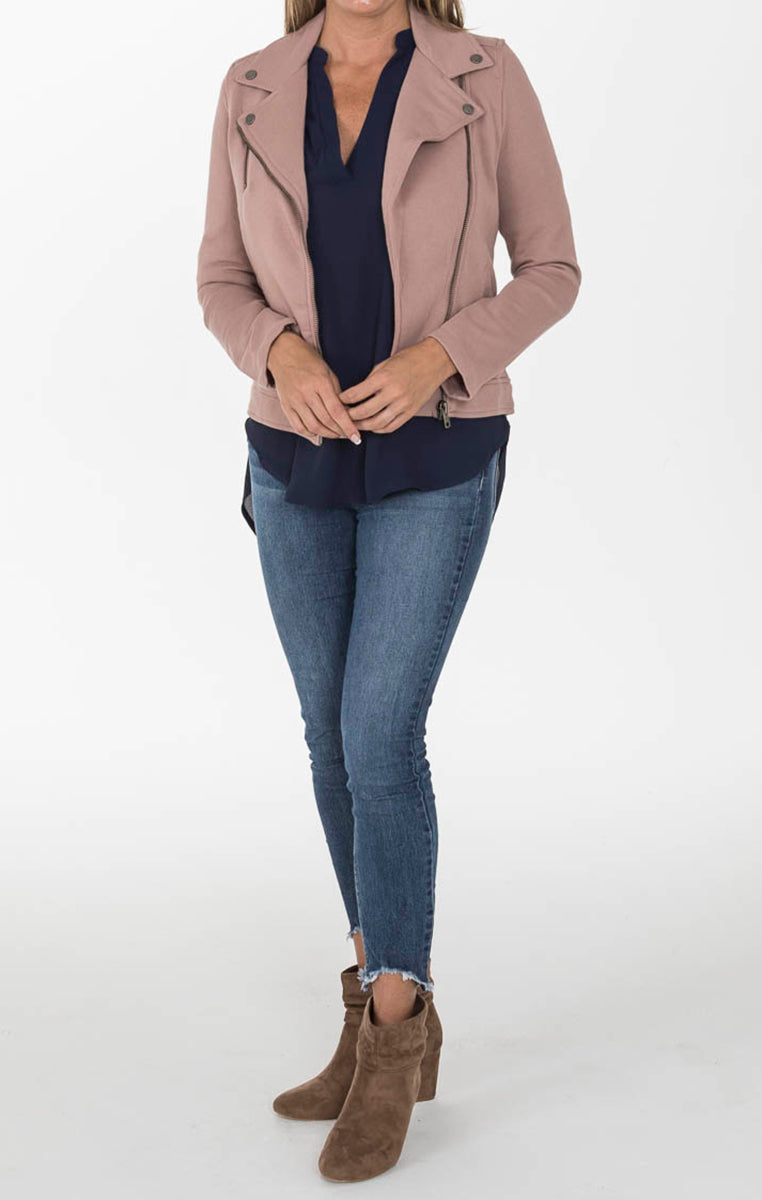 Rose Moto Jacket - Troovi Finds, Tops, Sunglight, Troovi Finds