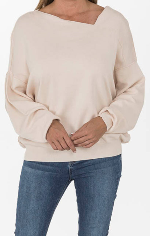 Modern Knit Sweater in Oatmeal
