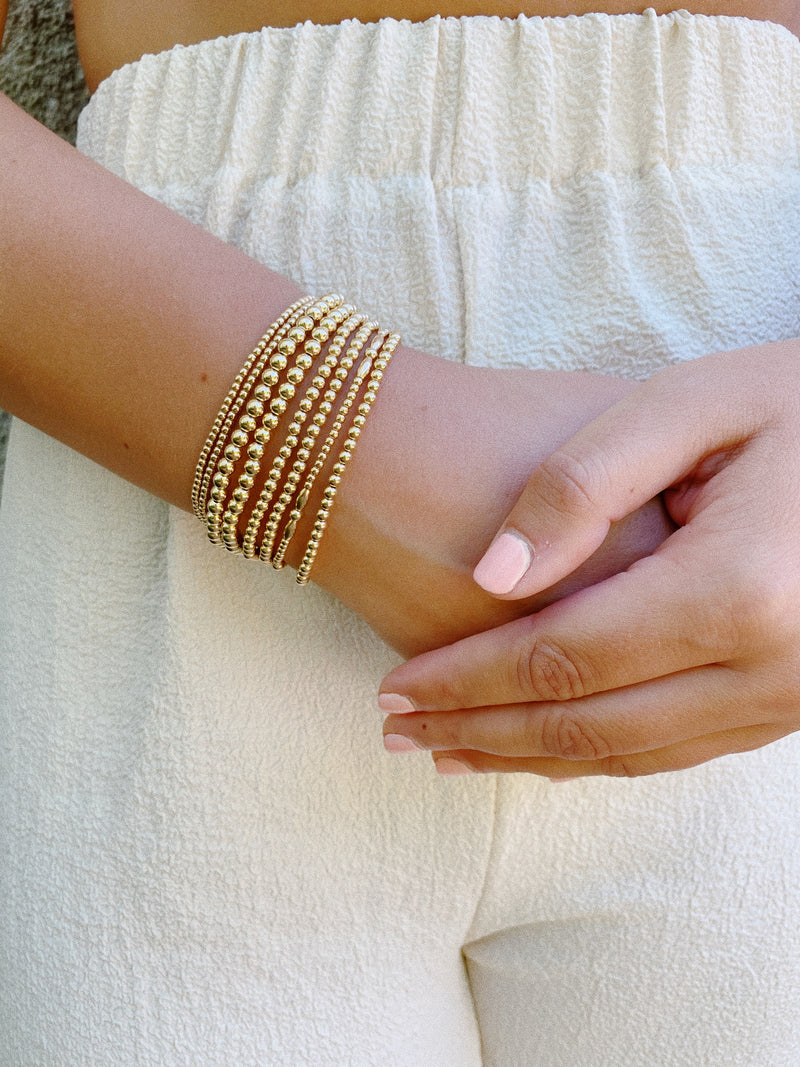 MEDIUM GOLD BEADED BRACELET