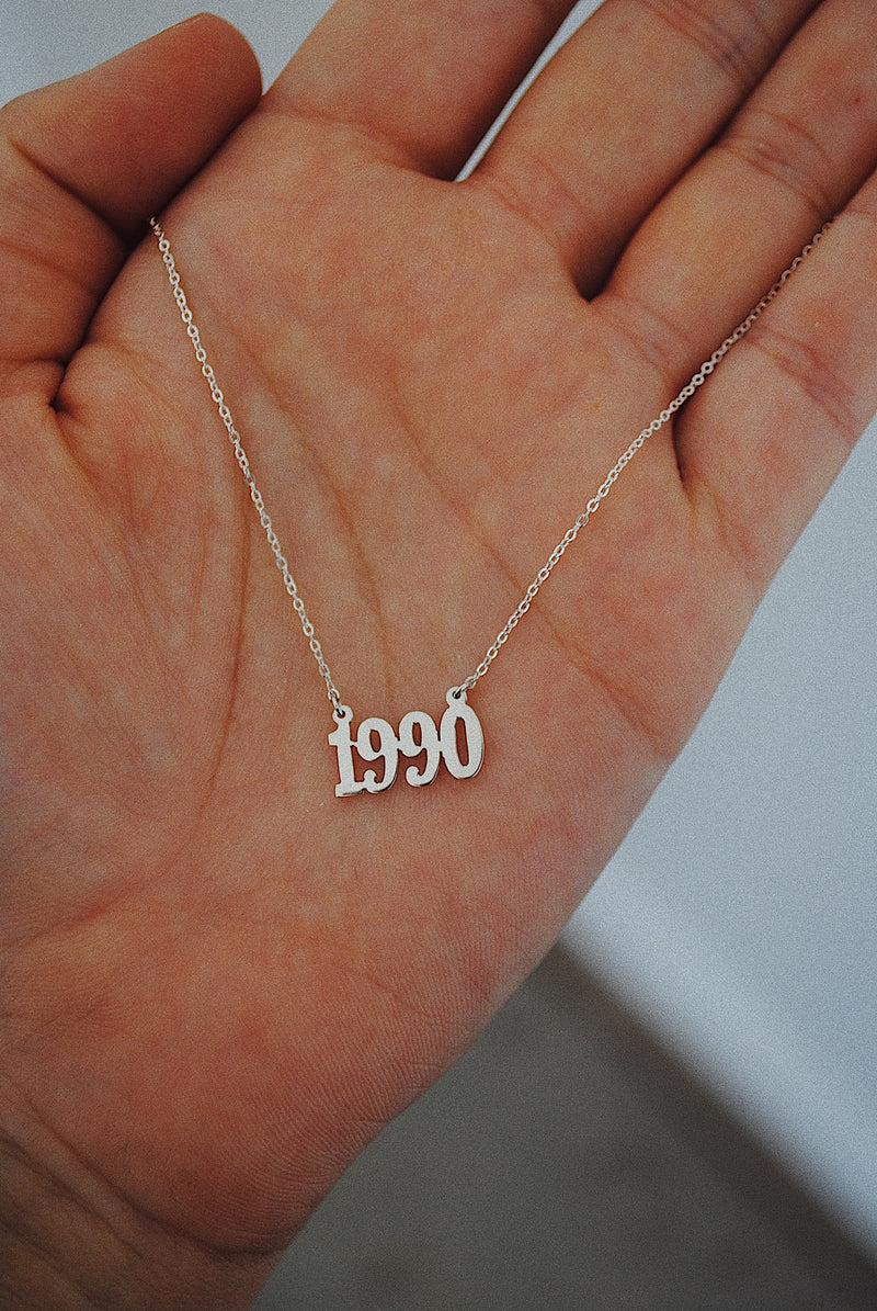 PERSONALIZED BIRTH YEAR NECKLACE