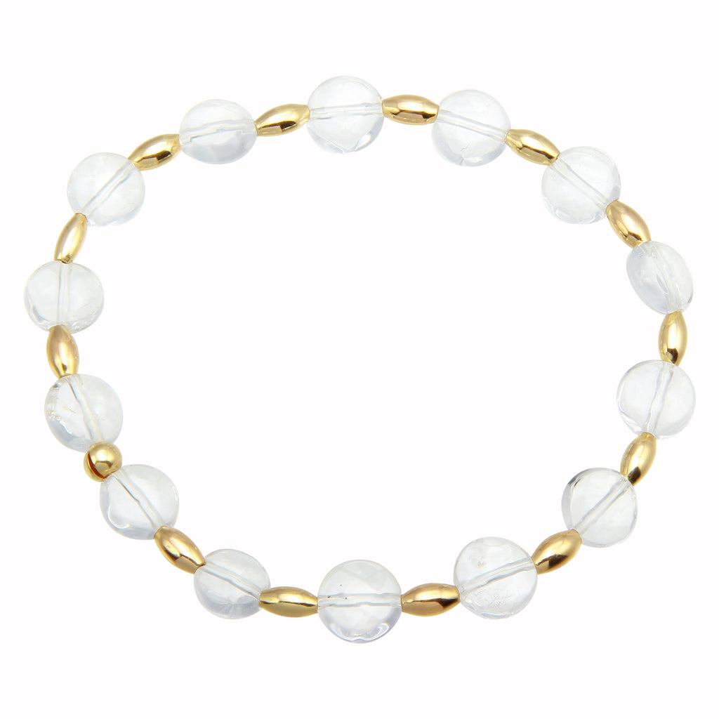 CRYSTAL CLEAR STRETCH BRACELET