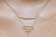 BEZELED DIAMOND MESH NECKLACE