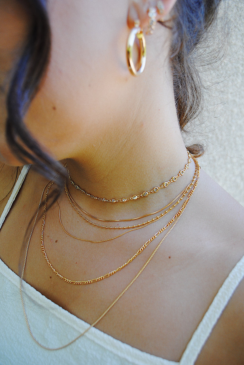 STEVIE BOX CHAIN NECKLACE