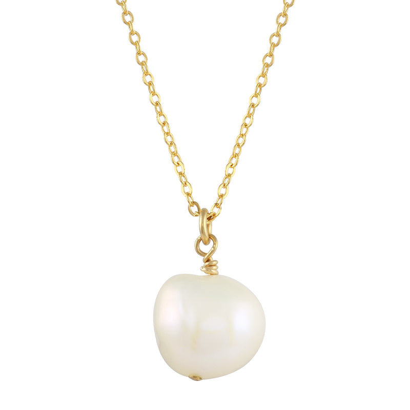 TIA CABLE CHAIN PEARL NECKLACE
