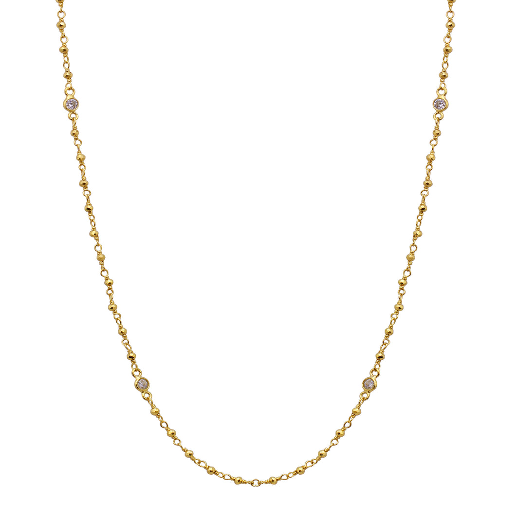 SIMPLE SPARKLE CHAIN NECKLACE