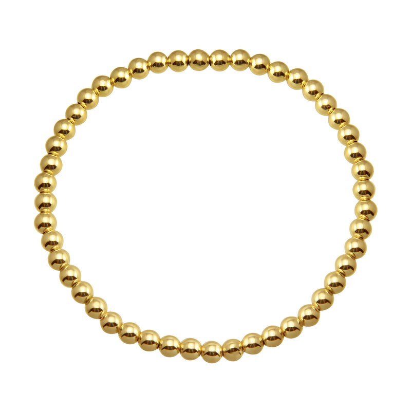 LARGE GOLD BEADED BRACELET