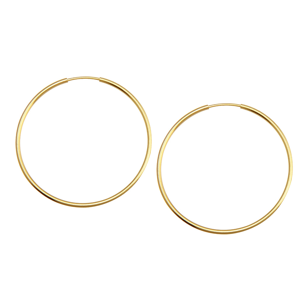 LARGE ENDLESS HOOP EARRINGS