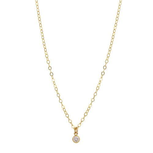 SINGLE BEZEL DROP NECKLACE