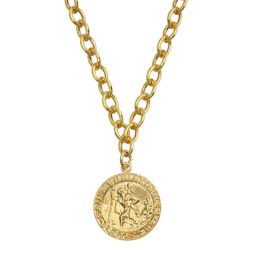 ST. CHRISTOPHER CABLE CHAIN NECKLACE