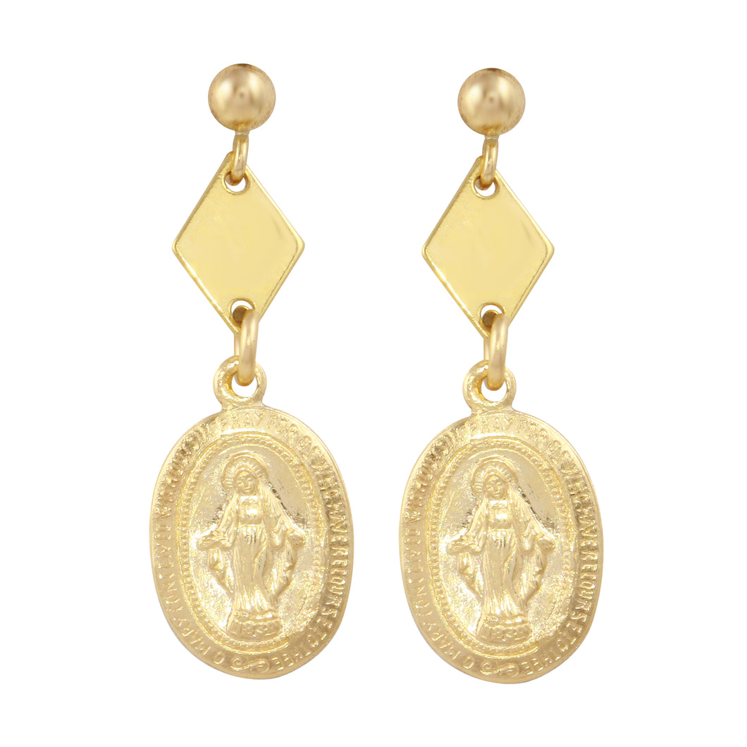 MARY DANGLE STUD EARRINGS