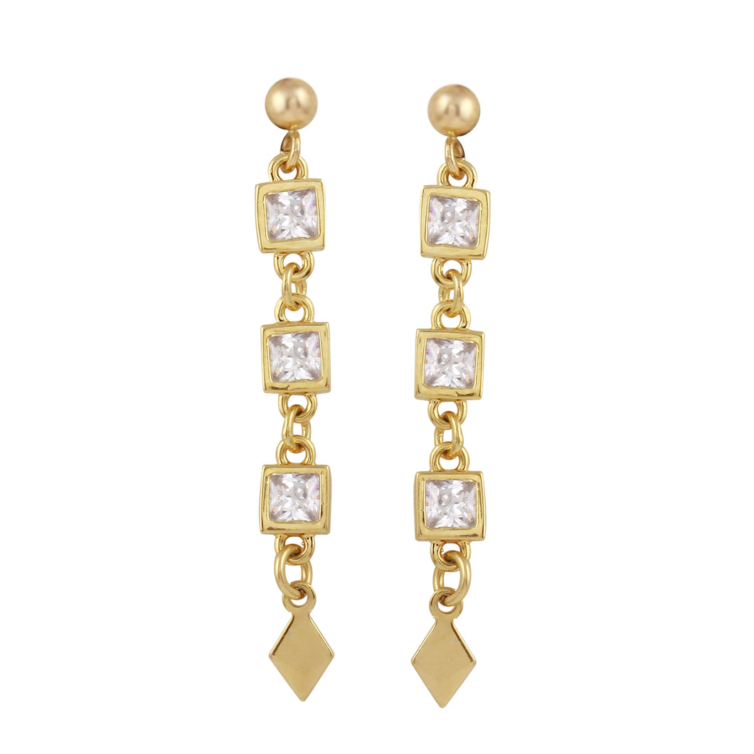 SABRINA DANGLE STUD EARRINGS
