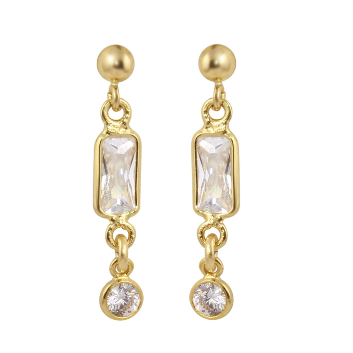 MIRANDA DANGLE STUD EARRINGS