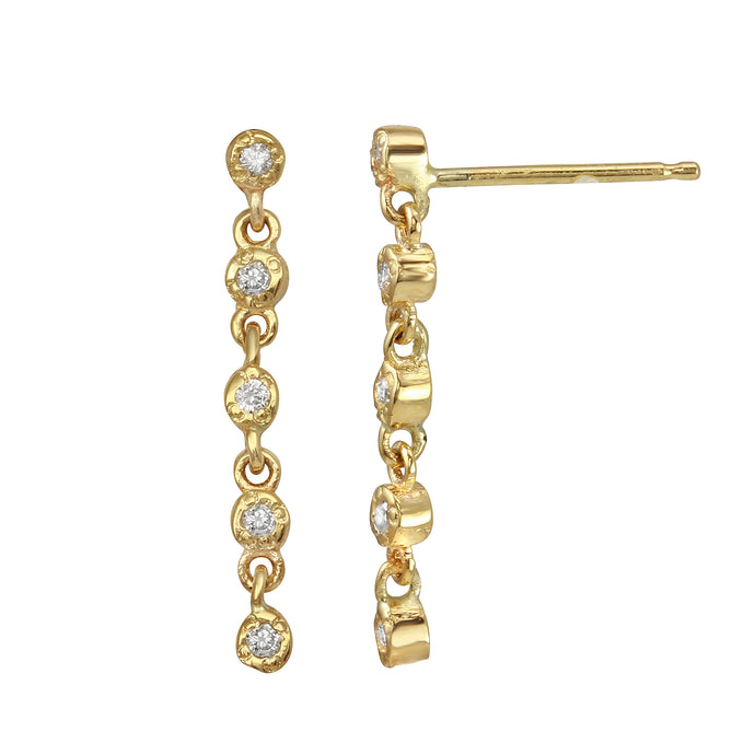 5 DIAMOND BEZEL POST EARRINGS
