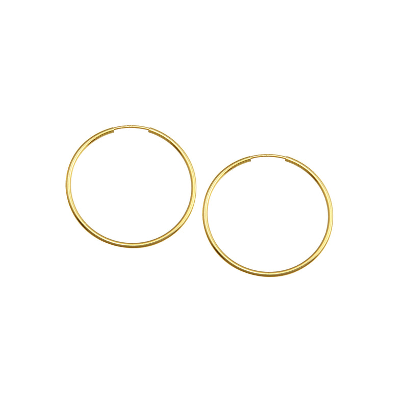 MEDIUM ENDLESS HOOP EARRINGS