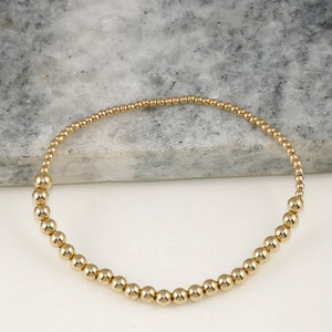 HALF AND HALF GOLD BEADED BRACELET