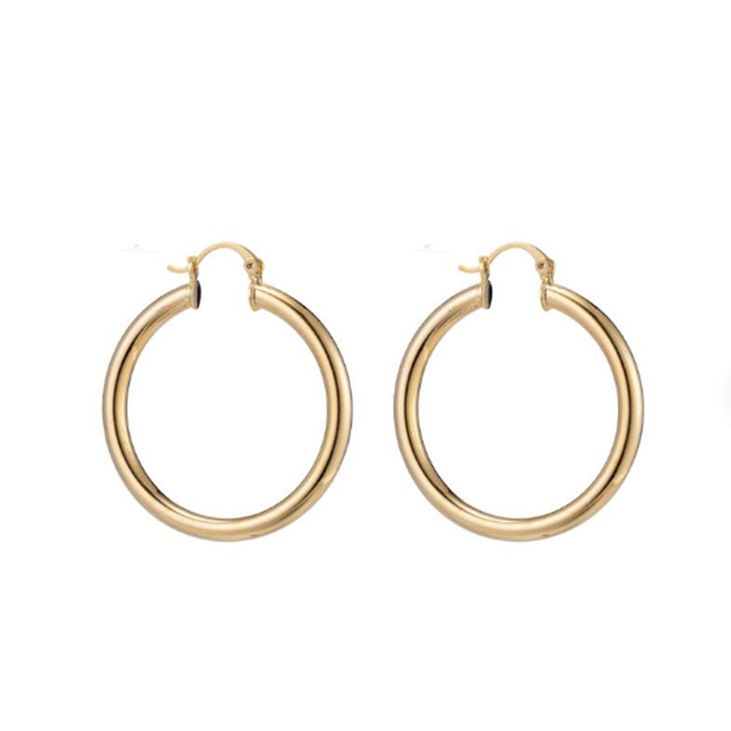 Our gold filled Stella Hoop earrings