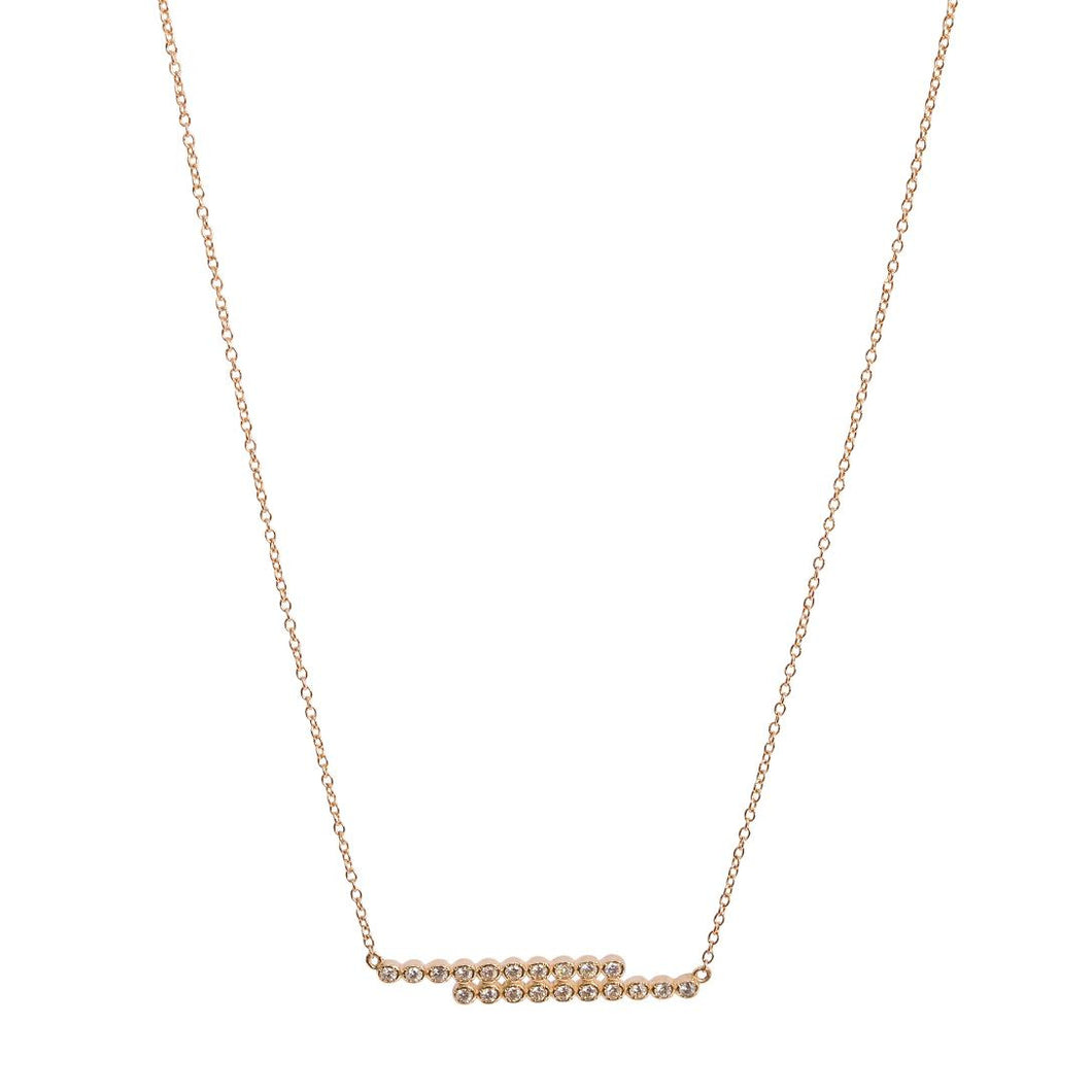 DOUBLE DIAMOND BAR NECKLACE