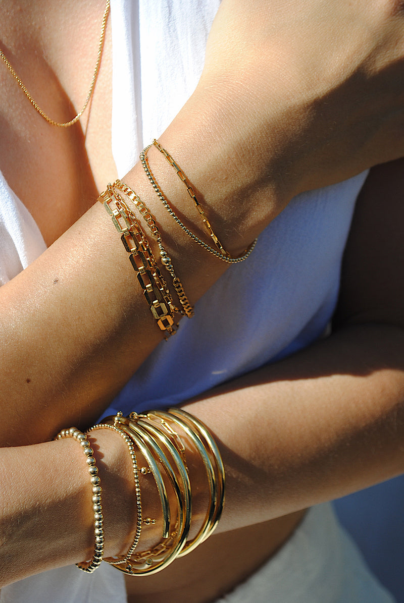 GOLD-FILLED BANGLE BRACELET