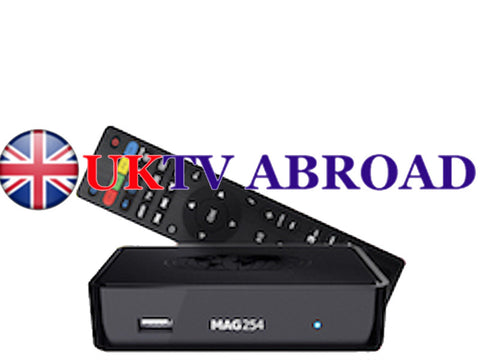 UKTV Abroad 6 months subscription + Mag 254 IPTV Receiver - Danelca