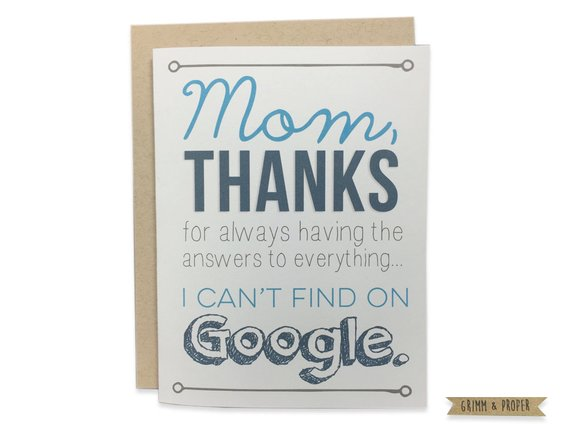 Grimm and Proper - Funny Mother's Day Card I