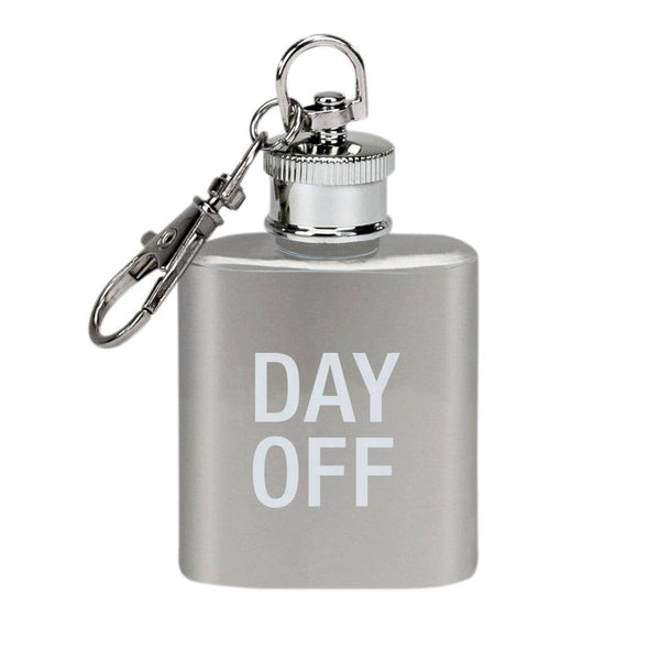 About Face Designs - Day Off Key Ring Flask