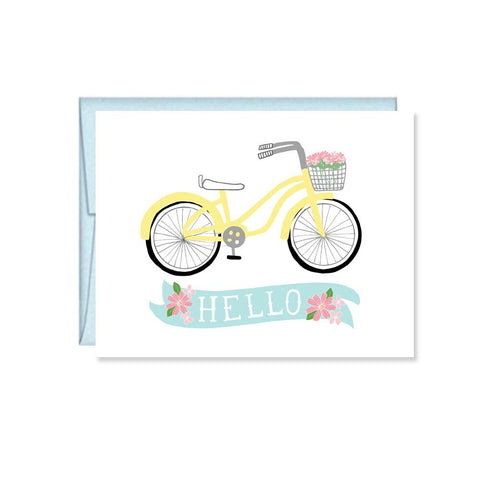 Pen & Paint - Hello Bicycle Card