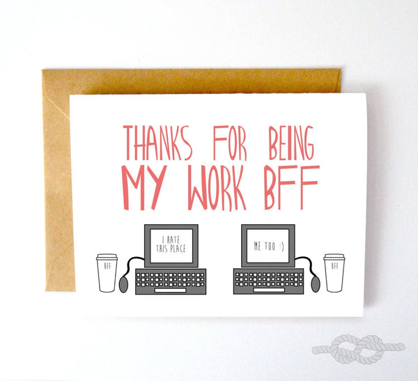 Knotty Cards - Work BFF