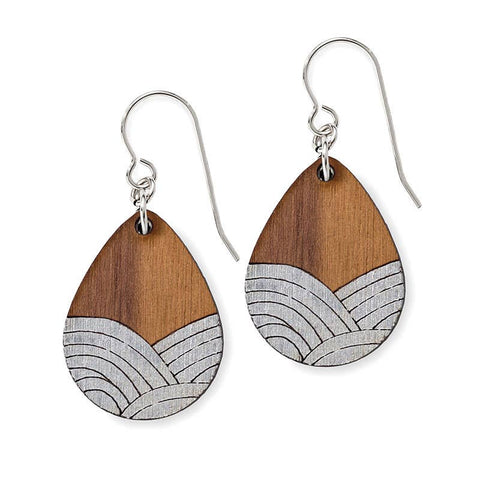 Treeline and Tide - Earrings - Deco Drop Silver