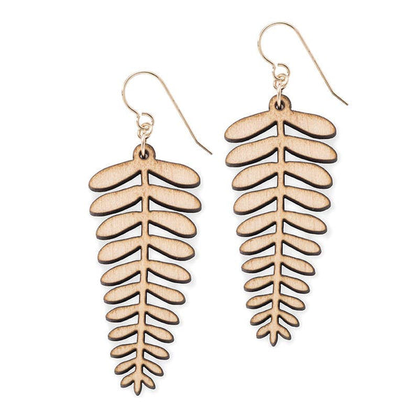 Treeline and Tide - Earrings - Fern