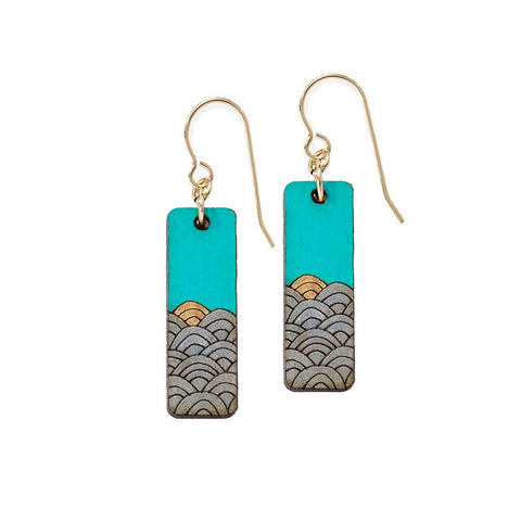 Best part of the day - Sunrise Waves Earrings