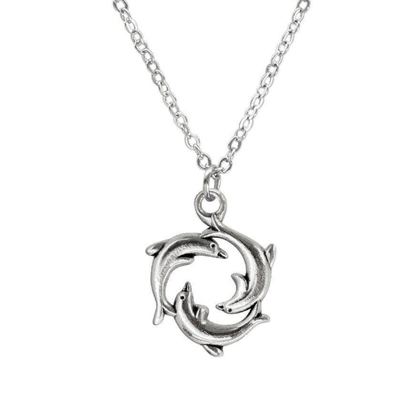 Dolphin Ring Charm Necklace