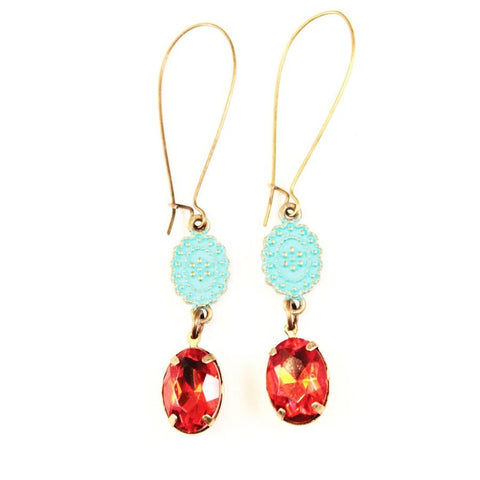 Gleeful Peacock - Curtsy Earrings