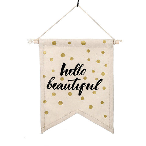 Hello Beautiful Mini Canvas Banner