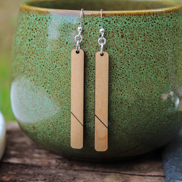 A New Grace - Maple Bar Earrings