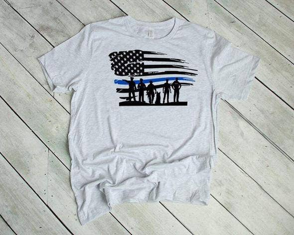 MidWest Tees - Blue Line Flag