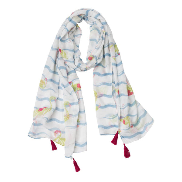 Top It Off - Blue Flamingo Scarf