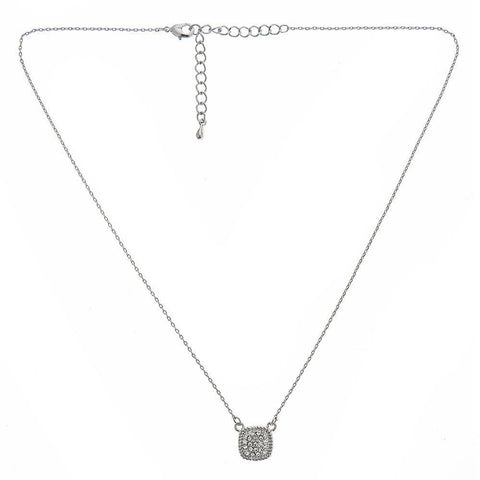 Fornash - Silver / Clear Short Kathryn Necklace